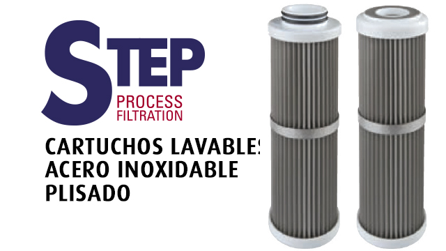 STEP PROCESS FILTRATION - CARTUCHOS LAVABLES DE ACERO INOXIDABLE PLISADO