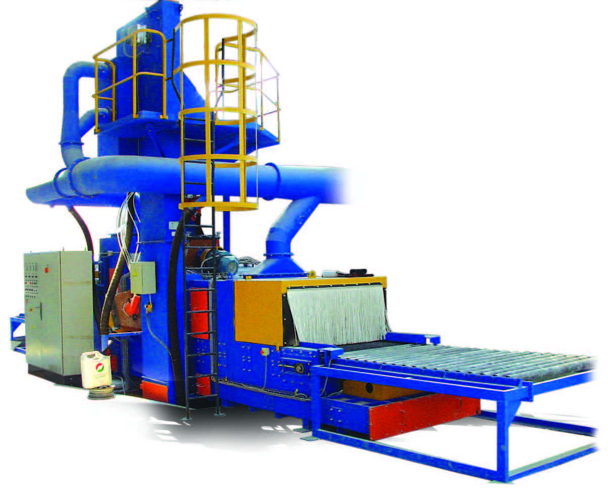 HORIZONTAL LOAD BELT CONTINUOUS SHOT BLASTING MACHINES