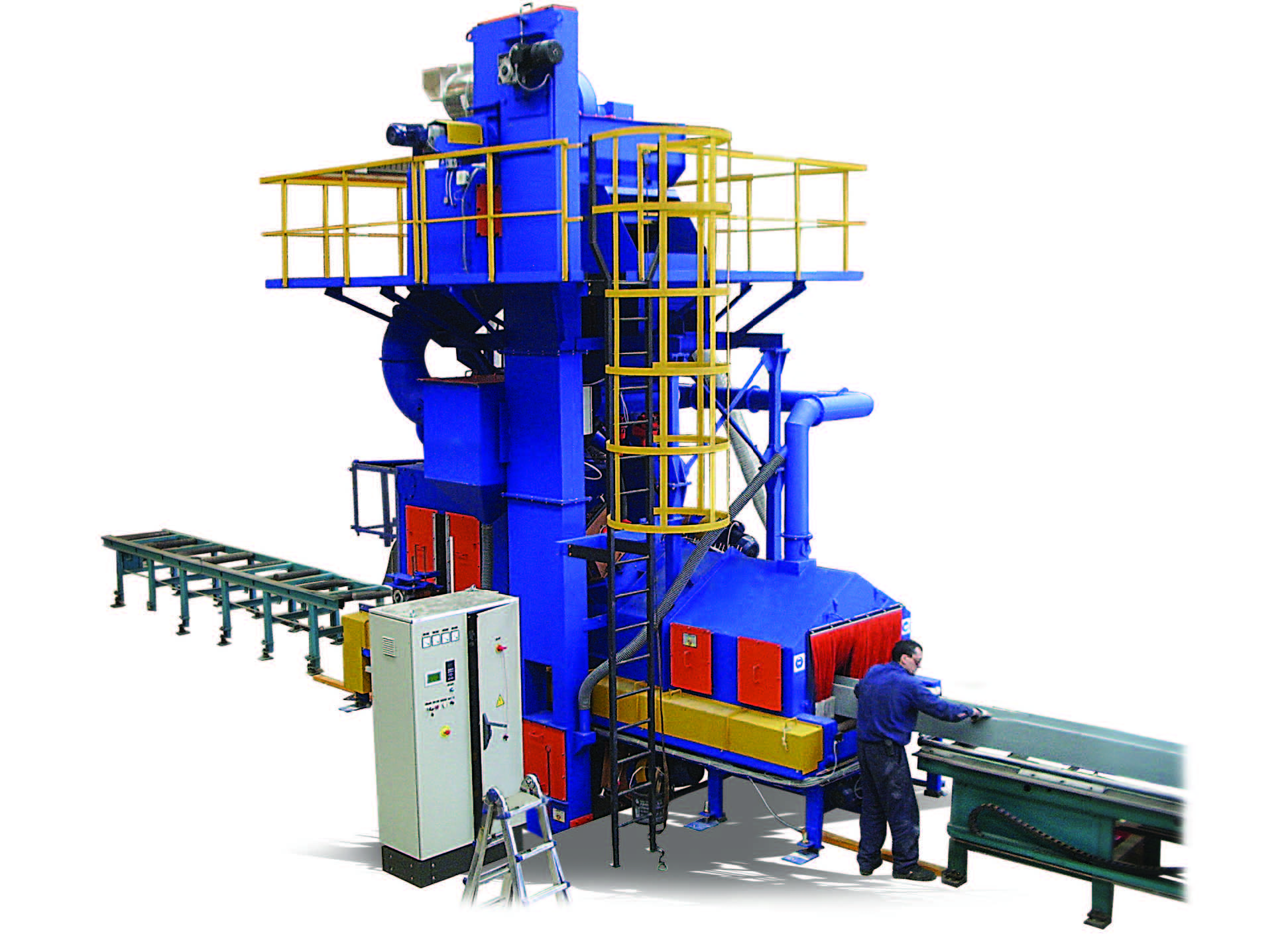 PLATE AND PROFILES SHOT BLASTING MACHINES