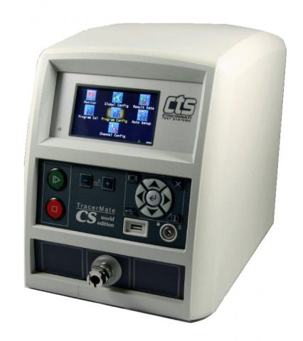 TracerMate CS Leak test and evacuation/charge units on the market.