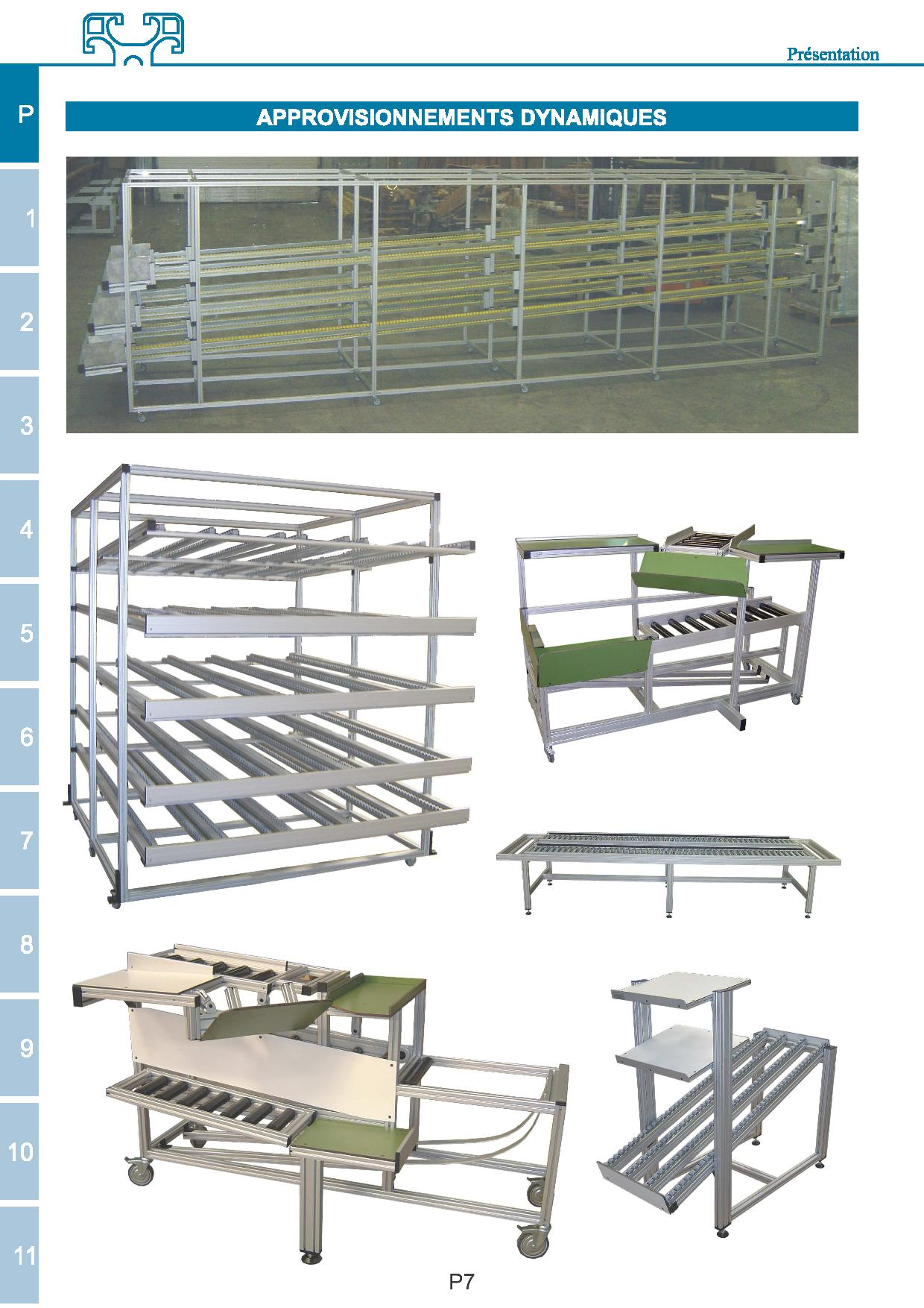 Aluminium machine guarding and working stations