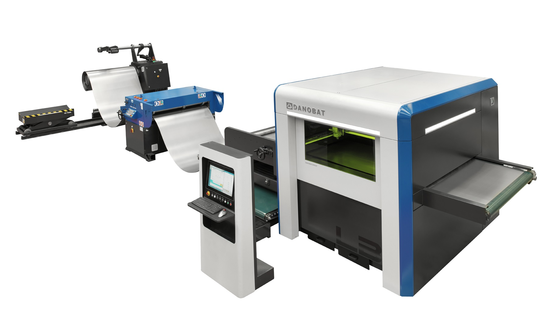 Coil-fed laser cutting DANOBAT, model LB