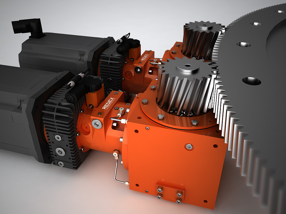 MSR Turntable Drive 2 speed gearbox