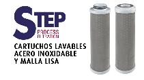 STEP PROCESS FILTRATION - CARTUCHOS LAVABLES DE ACERO INOXIDABLE CON MALLA LISA